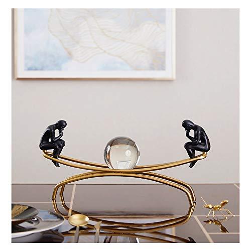 MZL Im europäischen Stil Thinker Dekoration Modell Wohnzimmer Wein Cabinet Office Study Metall Crystal Ball Startseite Soft-Dekoration