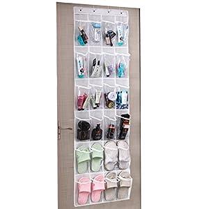 UMI. by Amazon - Zapatero Colgante para Puerta, Organizador de Zapatos para Colgar en Puertas, Organizador de 24 Bolsillos para Puerta
