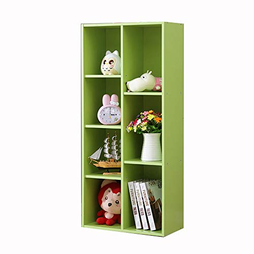 DD-Estantería de artículos Diversos, Vistoso Niños Librero de Pie Estante for Libros de Almacenamiento, Multi-Grid, Fácil de Acceder, Programa de Almacenamiento Perfecto for Niños (Color : Green)