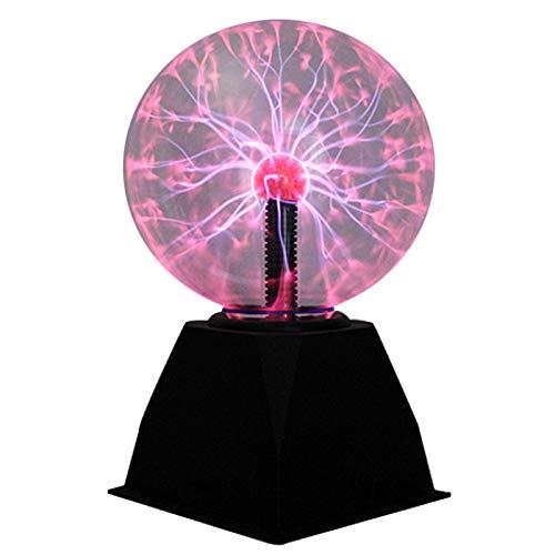 Kasachoy - Palla al plasma da 20 cm, con luce tattile e suono sensibile, palla magica elettrostatica lampeggiante, sfera nebulosa giocattolo regalo per decorazione, feste, bambini, festival