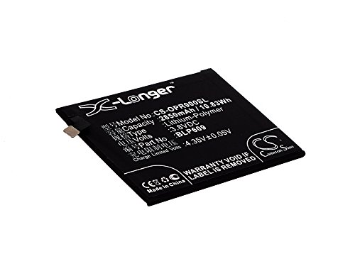 2850mAh Battery Replacement for Oppo F1 Plus R9 R9 Dual SIM R9 Dual SIM TD-LTE 64GB R9km R9tm BLP609