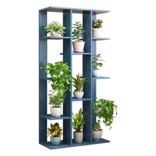 Stands Plant Racks met Hout Materialen12 Tiers, Multilayer Design, Combineerbaar als Bloemenrek Display Plankhouder Gebruikt voor Hal Woonkamer Slaapkamer Dressoir Bureau Meubels 60x21x130cm