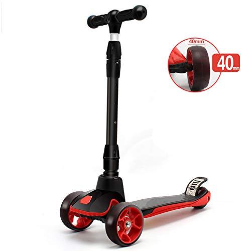 SYCHONG Scooter para Niños, Mini Scooter Plegable Ajustable para Niños, con Rueda De Flash De PU, Regalos para Niños De 3-14 Años, Soporte 120 Kg