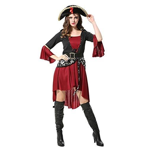GWM Decoraciones de Halloween, del Partido de Halloween, Disfraces de Halloween Cosplay Ropa del Adulto del Traje de Pirata del Caribe Mujer Party DS Bar