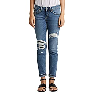 Silver Jeans Co. Women's Boyfriend Mid Rise
