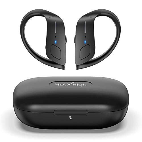 HolyHigh Wireless Headphones Sports Bluetooth 5.0 Earphones IPX5 Waterproof 30H Play Time in Ear Stereo Sound Wireless Earbuds with Charging Case Micro for Running Sport Gym for iOS Android