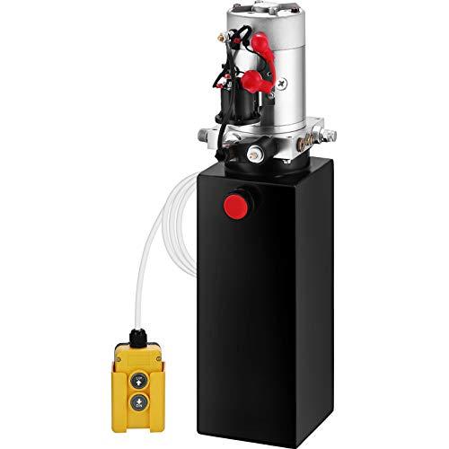 VEVOR 10L Hydraulikpumpe Nenndrehzahl 2850R / MIN max. 3200 PSI Hydraulikaggregat Einfachwirkend Kipperpumpe mit 10L Tank aus Metall 4,5M Kabelfernbedienung