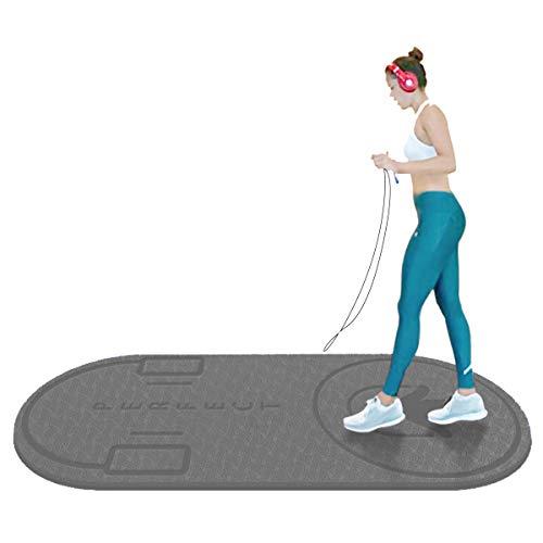 Colchonetas LJ Cuerda para Saltar, Esterilla Yoga Antideslizante, Saltar la Cuerda Esterilla Antideslizante, Fitness Extra, Esterilla Deporte 140x60cm, 6 mm de Grosor