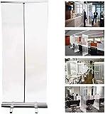 TAIDENG Protector de estornudos para el mostrador, divisor de PVC, pantalla ancha enrollable, pantalla protectora
