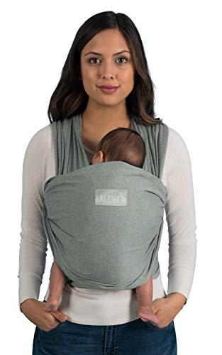 Fular Portabebes de Algodón Ecológico para Recién Nacidos hasta bebés de 15KG Fabricación Europea, Transpirable, sin Elastano Artificial Color Verde