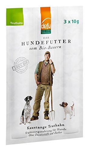 defu Bio Hunde Kaustangen Truthahn 30 g (als 3 x 10 g Sticks), 10er Pack (10 x 30 g)