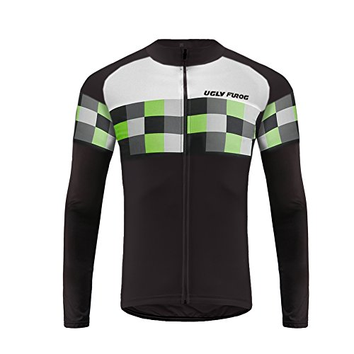 Uglyfrog 2018-2019 New Classical Thermal Fleece Winter Long Sleeve Cycling Jersey Mountain Triathlon Clothing