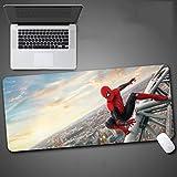 Spiderman juego alfombrilla de ratón de dibujos animados animado de gran tamaño del teclado extendido tapete de ratones Marvel juego de superhéroes Mousepad for Ministerio del Interior antideslizante