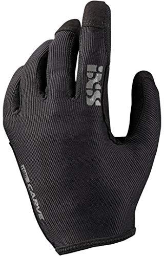 iXS Unisex Ergonomic Preformed Slip-On Touch-Screen Carve Motorcycle Gloves, Black, Medium