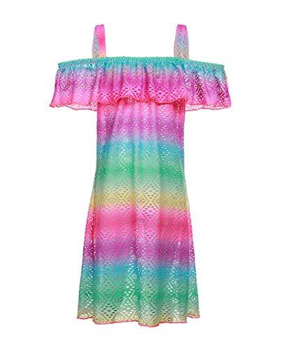 iDrawl - Vestido de natación para niñas con diseño de Unicornio y Hombros Descubiertos, para niños de 6 a 14 años Multicolor 1 XX-Large