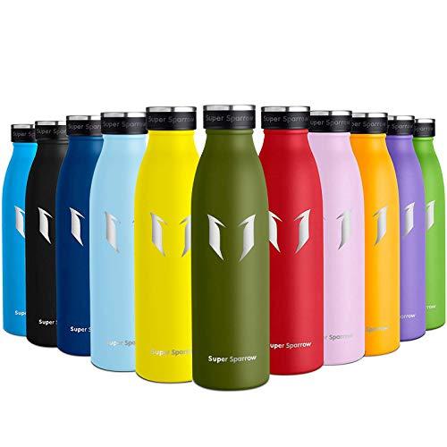 Super Sparrow Water Bottles Stainless Steel | Premium Flask | 750ml | Sports Water Bottle | Leak Proof Cap | BPA-Free Stainless Steel