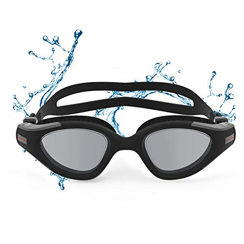 Funní Día Gafas de natación, sin fugas, antivaho, protección UV, visión transparente, triatlón, gafas de natación para adultos, hombres y mujeres, jóvenes, adolescentes CF-12001