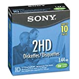 Sony 10MFD 1.44MB 3.5' Dos, 10pk 1.44MB - Disquetes (10pk, 1,44 MB, 8-88%, 10-60 °C, 8-90%)