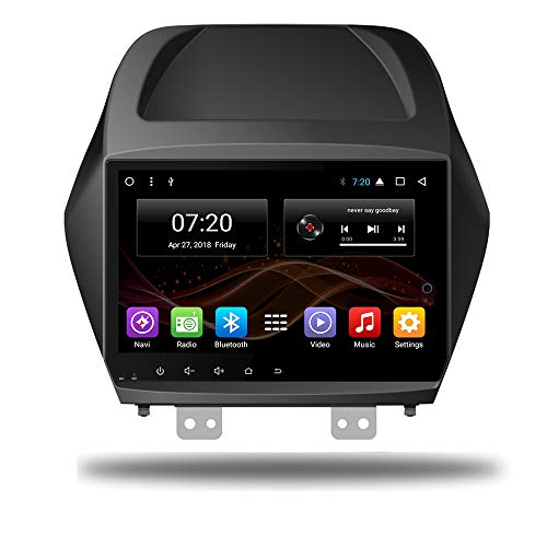 Android 7.1 Car DVD Radio GPS Navigation for Hyundai IX35 Tucson 2011-2015 Stereo Audio Navi Video with Bluetooth Calling WiFi (Android 7.1 1/16G for IX35 Tucson 11-15)