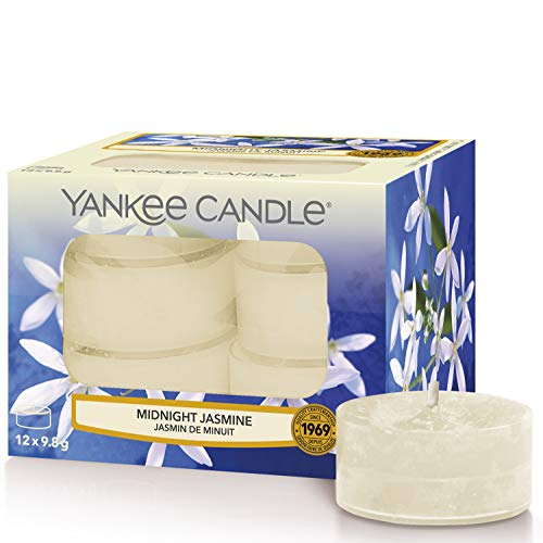 Yankee Candle candeline profumate tea light | Gelsomino notturno | 12 pezzi