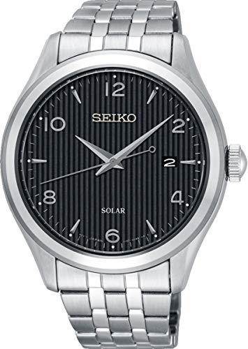 Seiko Solar Herren-Uhr Edelstahl mit Metallband SNE489P1