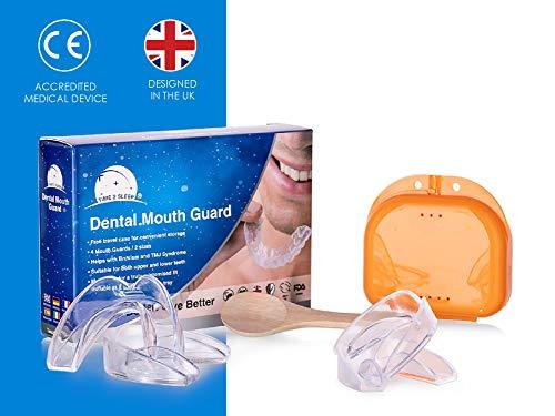 Time2Sleep Gouttiere Dentaire Anti Bruxisme - Stop Les Grincements De Dents Et Apnee Du Sommeil/Protege Dent Anti Ronflement/Kit Gouttiere Dentaire Alignement/Support Pour Blanchiment Dentaire