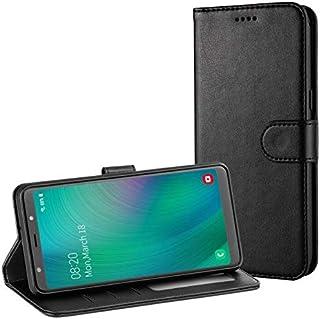 TAMOWA fodral till Samsung Galaxy A7 2018, plånboksfodral i läder för Samsung Galaxy A7 2018 [kortplatser] [ställ funktio...