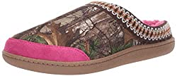 powerful Realtree Women Memory Foam Slippers Camo Clog House Slippers / Outdoor Shoes, Camouflage / Pink, large (8-9)…