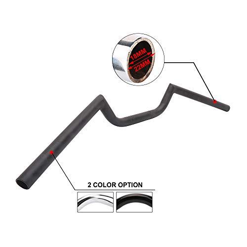 """7/8"""" Manillar de la motocicleta Black Cafe Racer Ace Clubman Style Universal 22MM Manillares de hierro para Harley Davidson Bobber Aplicación personalizada"""