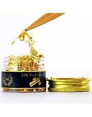 KINNO Eetbare Bladgoud Vlokken, 25 mg 24-Karaats Gouden Vlokken Decoratieve Gerechten, Echt Bladgoud Voor Koken, Taarten en Chocolaatjes, Decoratie, Gezondheid en Spa