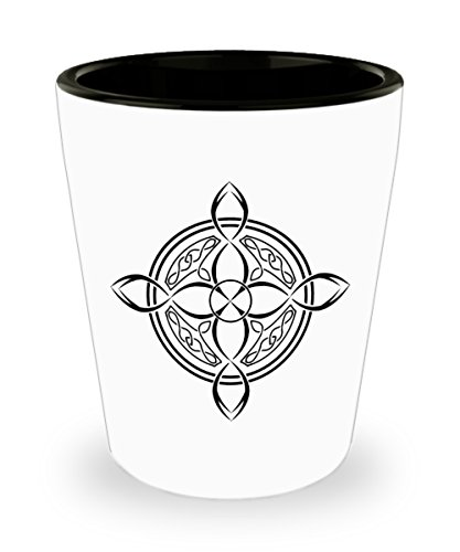 Celtic Knot Shot Glass by Blue Feather Web