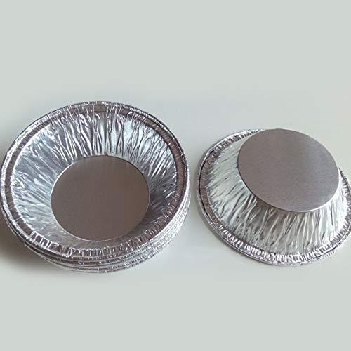 50pcs disposable kitchen baking round egg tart can Cake cup mould maker cake cup foil tart pot (silver),Mini Aluminum Foil Pie Pans Disposable Pie Pans Small Tin Pans Tart Pie(Zaiqi)