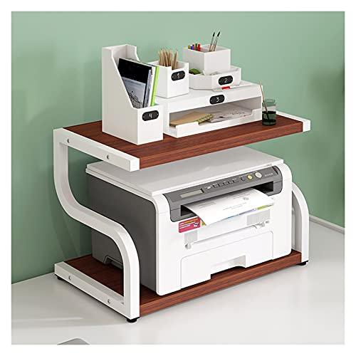 Soporte para ImpresoraOrganizador Soporte de impresora grande, estante de pantalla de Turn-N-Tube, impresora multifunción de escritorio Pantalla de estante del escáner de la copiadora (cuatro colores)