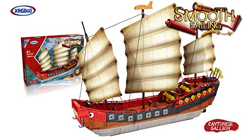 XingBao Chinesische Dschunke (o. Figur) - Klemmbausteine - ArtikelNr. XB-25001, Teileanzahl: 1892