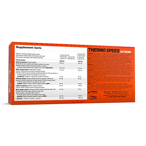 Olimp Thermo Speed Extreme Mega Caps 120 Kapseln, 1er Pack (1 x 146,4 g) - 2