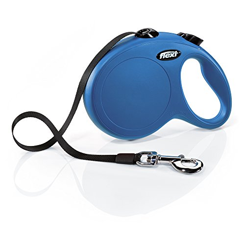 FLEXI New Classic Retractable Dog Leash (Tape), 16 ft, Large, Blue
