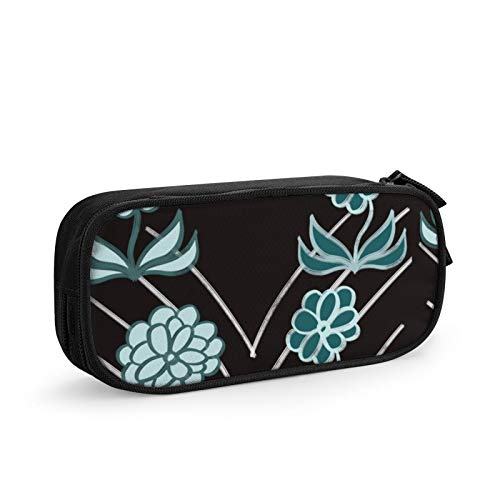 Knife Edge Flowers Pencil Case Pencil Pouch Pencil Box Stationery Organizer Cosmetic Makeup Bag High Capacity for School Office Supplies