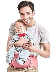 Asiento de Cadera Portabebés Ergonómica Portador de Bebé 3-36 Meses Niños Pequeños, Rosa