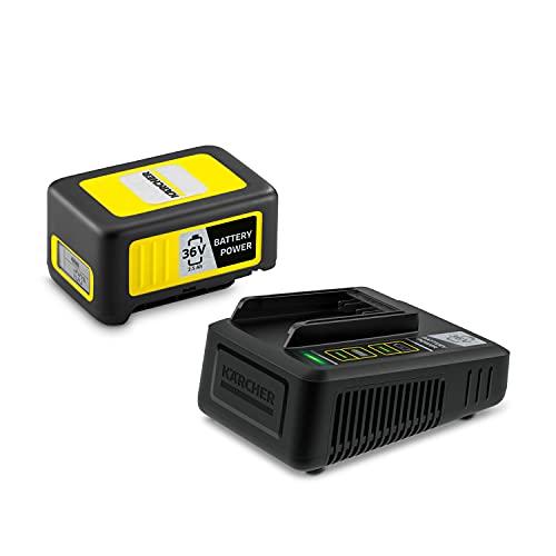 Kärcher 36 V Batería y cargador 36V/2,5, 36 V/2,5 Ah, batería de ionos de litio, en menos de 1,5 horas carga al 100 %, para todos los equipos de la plataforma de baterías 36 V Battery Power