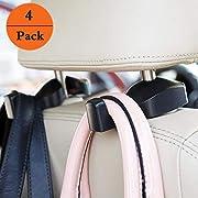 EldHus OfsPower 4-Pack Car Hooks, Back Seat Headrest Hook Vehicle Car Storage Organization for Purse Grocery Bag Shopping Bags