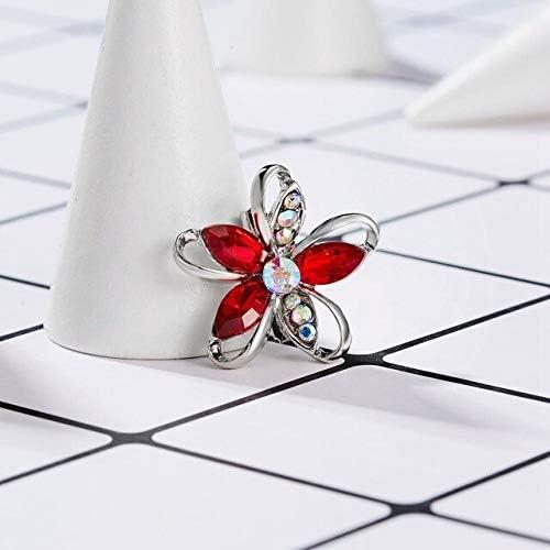 Rapid rise Crystal Brooch Pins - Elegant Smal Classic Flower Hollow Geometric Glass