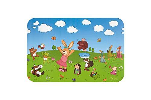 SIGIKID Mädchen und Jungen, Jahreszeiten 4er-Set Tischunterlagen für Kinder, BPA-frei, empfohlen ab 0 Monaten, mehrfarbig, 25062
