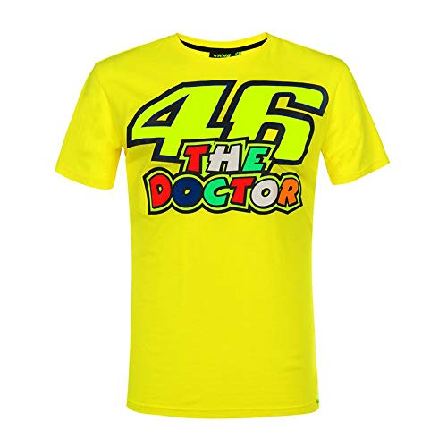 Valentino Rossi Vr46 Classic-46 The Doctor, T-Shirt Hombre, Amarillo, XL