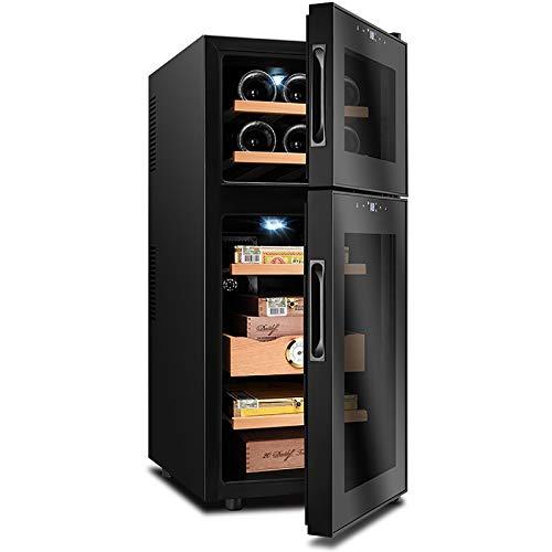 VIY Nevera vinos Vinoteca 15/6 Botellas 59 litros de Capacidad Temperatura Regulable Panel táctl Display Digital luz LED Dual-Zone 110 W,B