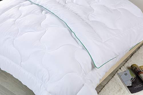 Bergmann Bettdecke Bambusmotiven für Allergiker, Kinder und Erwachsene, Microfaser Decke, Steppdecke waschbar bis 95°, Öko Tex, Schlafdecke - Weiche Steppbettdecke 135 x 200 cm