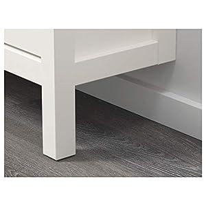 IKEA HEMNES zapatero con 2 compartimentos 89x30x127 cm blanco
