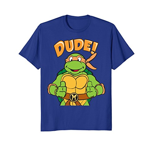 TMNT Michelangelo Dude T-Shirt, Royal Blue, Adult and Kids Sizes