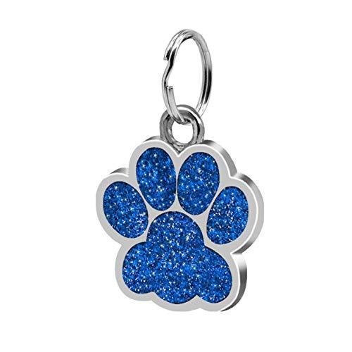 Joyería para mascotas Huellas de moda Decoración colgante para mascotas Joyería para mascotas encantadora Tarjeta de identidad con huella de brillo Popular Etiqueta de perro Accesorios para mascotas