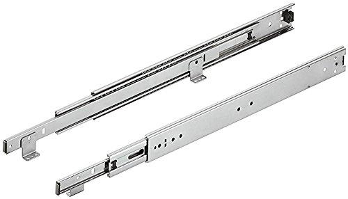 Schubladenschiene Kugelführung ACCURIDE 3301-60 Vollauszug 300 mm | Auszüge mit Rastung in geschlossener Position | Überauszug mit Winkel für aufliegende Bodenmontage | 1 Paar - Teleskopschienen
