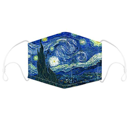 Lifocs Unisex Seamless 3D Oil Painting Print 5 Layers Face Cloth Windproof Face Towel Motorcycle Face Cover Sporting Running Hiking Mouth Cover for Men Women Boys Girls